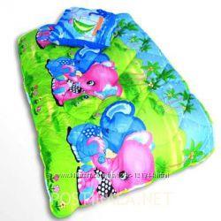 Детские одеяла и подушки с шерсти и холофайбера гипоалергенны