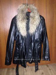 Осенняя куртка, с подкладкой, качественный кожзам
