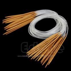 Круговые бамбуковые спицы в наборе