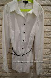 Белая офисная блуза-рубашка, 48-50 р.