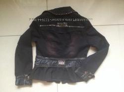 Коттоновый пиджак с баской