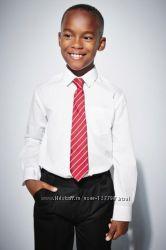 Школьные белые рубашки, майки, рубашки-поло NEXT на 7-11 лет