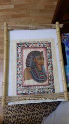 картина на папирусе  из Египта.