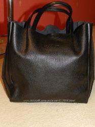Фирменная кожанная сумка POOLPARTY