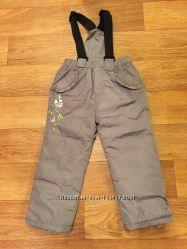 Утепленные непромокаемые штаны 98 рост