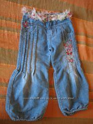 Нарядные гламурные джинсы для девочки
