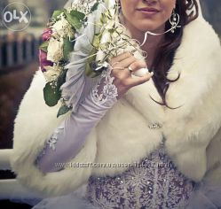 свадебное меховое болеро