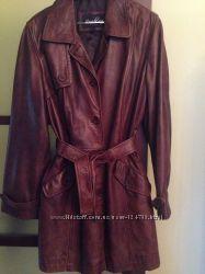 Пальто плащ натуральная кожа