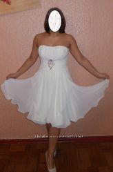 Платье короткое Свадебное