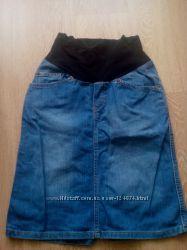 Продам джинсовую юбку для беременной