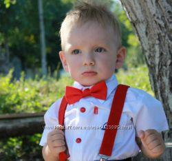 Набор галстук-бабочка-подтяжки для юных джентельменов