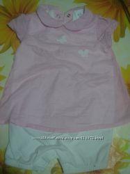 Боди в виде туники платья с шортиками, размер 68