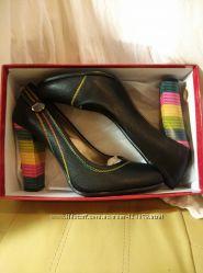 Красивые туфли на высоком радужном каблуке, 25, 5 см