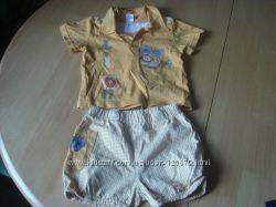 Летний костюм шорты и футболка со львом