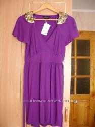 Платье-туника с погонами, 12 размер