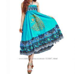 Купить женский длинный сарафан с вышивкой в интернет-магазине Киева