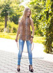 туника-фрак леопард