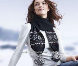 Теплый шарф с шерстью от Tchibo