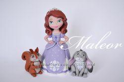 Принцессы Дисней из мастики для тортиков