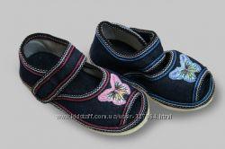 Детские летние туфельки на 15 см Бабочка