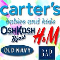 CARTERS, oshkosh, OLD NAVY, Gap применяю все скидки и купоны