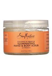 Осветляющий скраб для рук и тела shea moisture, кокос и гибискус, 340 г