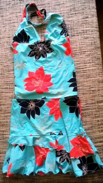 Пляжный костюм MORGAN танкини юбочка