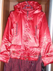 Демисезонная женская куртка красного цвета Сhelsi р. M, подарок.