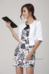 женский комплект платье с пиджаком 46 размер