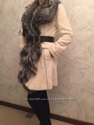 Норковая шуба Antonio Didone Италияполированная  норка с чернобуркой