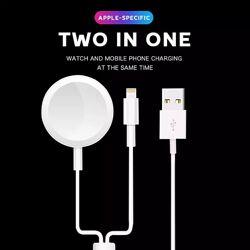 Беспроводная зарядка для Apple Watch и кабель для быстрой зарядки 2В1