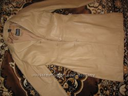 Кожаный плащ-пальто женский 34 р.