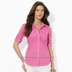 Ralph Lauren Polka-Dot Cotton Shirt на обьем груди около 90 см