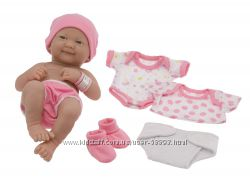 Кукла - пупс JC Toys La Newborn с одеждой.