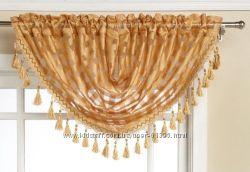 Нарядный ламбрекен на маленькое окно EDITEX LEANA GOLD