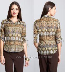 Блуза Biacci с закрытой распродажи. Хлопок с шелком, размер 6