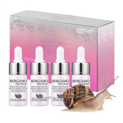 Улиточная сыворотка премиум класса Bergamo Pure Snail Brightening 13 ml