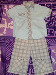 Костюмчик для мальчика тениска и шорты, разм. 122