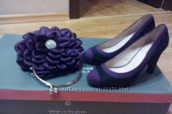 Туфли, черно-фиолетовые, 37 размер в идеальном состоянии