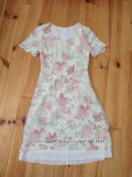 Шифоновое платье цветочный принт