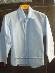 Рубашка Sela бледно-голубая, на 6 лет, рост 116 см