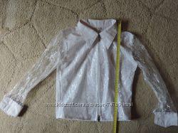 Нарядная белая блузка  на молнии р. 134