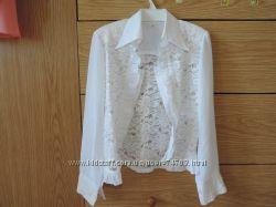 Нарядная белая блузка, бу