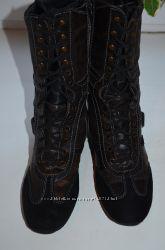 Демисезонные кожаные сапоги Geox р. 39 по стельке 24, 5 см