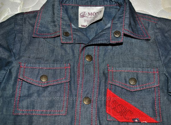 Стильная рубашка MONE Эксклюзив р. 104 Указаны замеры