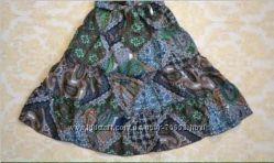 Шикарная летняя юбка из индийского хлопка от ТМ MONE р. 122 Указаны замеры