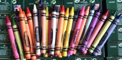 Восковые карандаши Crayola 24 шт, кристаллизирующиеся маркеры для окон