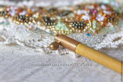 Люневильский крючок, тамбурный крючок для вышивки бисером и пайетками