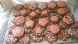 имбирно-шоколадные пряники расписные- 200грв 1кг