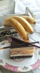 торт Микадо с бананами